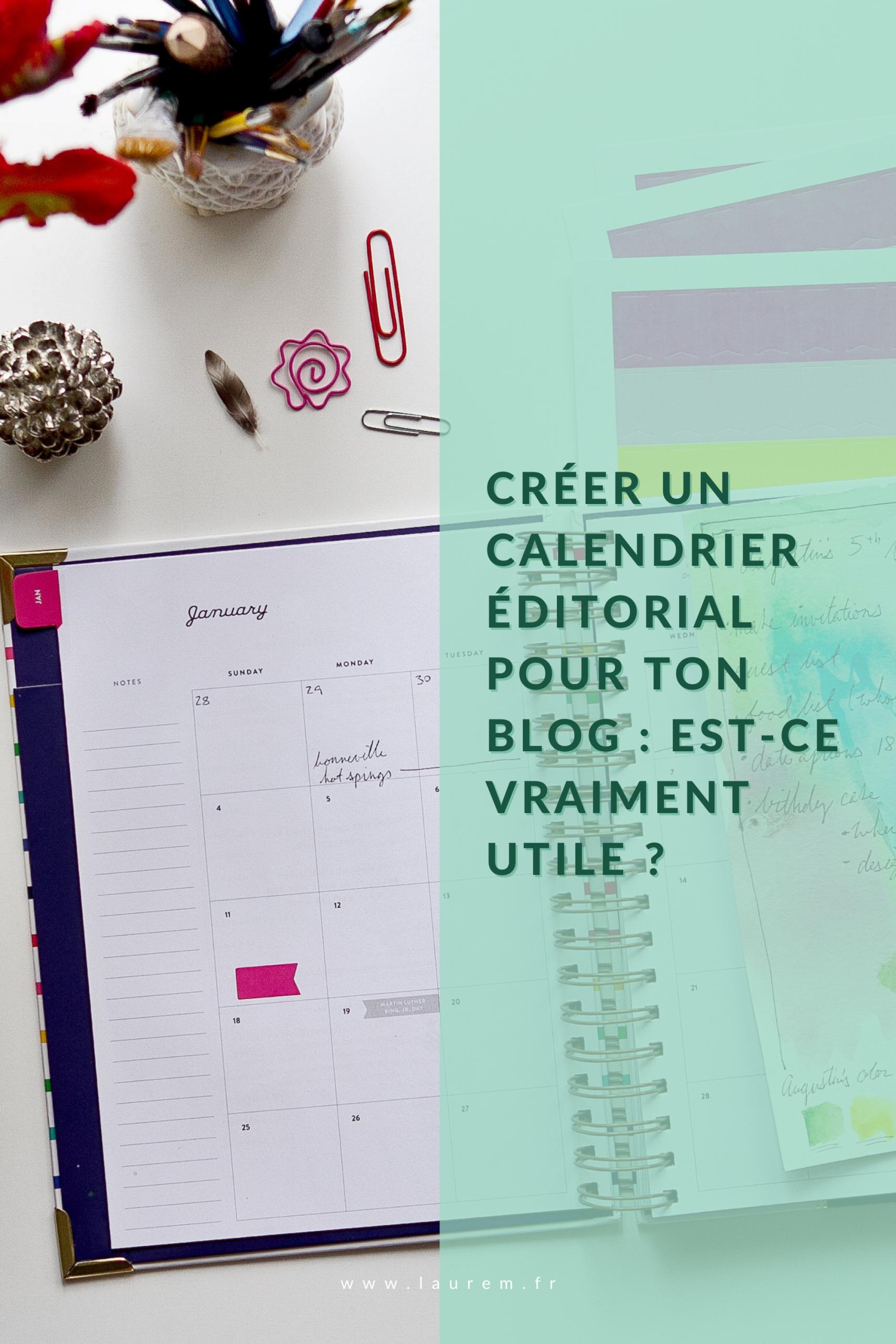 Tu en as marre d'être en panne d'idées pour ton blog? Et si créer un Calendrier Editorial était LA solution pour faciliter la création de ton contenu chaque mois?